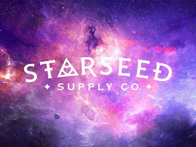 Starseed Supply Co. Logo astral space metaphysical new age spiritual extra terrestrial aliens occult esoteric cosmic starseed logo