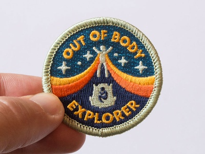 Out of Body Explorer Patch astral projection dream metaphysical consciousness retro etsy embroidered patch badge