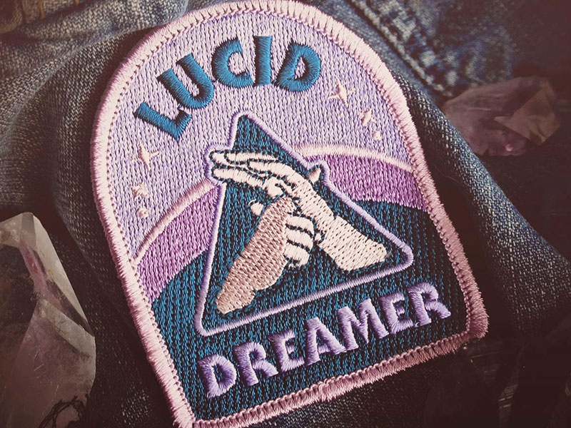Lucid Dreamer Patch dreamy stars serif gothic consciousness mystical lucid dreaming hand badge patch