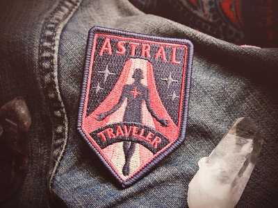 Astral Traveler Patch cosmic space stars consciousness mystical astral projection hand badge patch