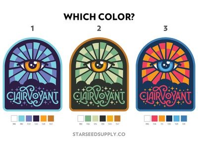 Clairvoyant Patch - color ways starseed all seeing eye eye third eye spiritual psychic mystical art nouveau patch clairvoyant