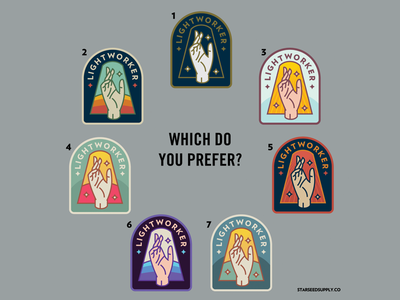 Lightworker Patch concepts occult new age magic hand badges retro spiritual lightworker patch