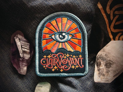 Clairvoyant Patch starseed all seeing eye eye third eye spiritual psychic mystical art nouveau patch clairvoyant