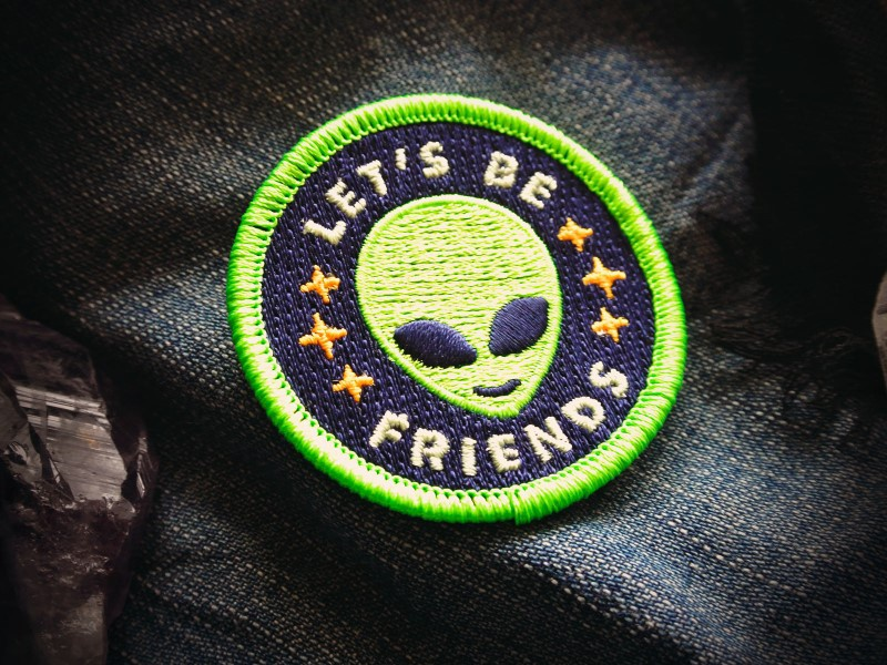 Friendly Alien Patch badge starseed extra terrestrials patch alien