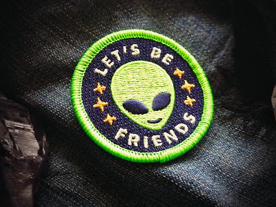 Friendly Alien Patch badge starseed extra terrestrials patch alien