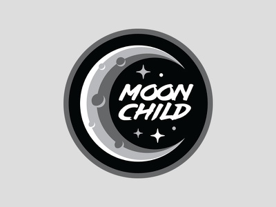 Moon Child Patch retro vintage grey badge patch moon moon child