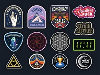 Patch & Sticker Designs for Starseed Supply