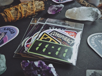 Sticker Packs for Starseed Supply Co. colorful badge starseed new age esoteric lucid dream crystal quartz amethyst conspiracy 1111 sticker