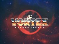 The Vortex - Starbound Renegade punk adventure sci-fi 80s retro logo music synthwave metal chrome vortex