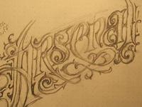 Arsenal Ornate Lettering sketch
