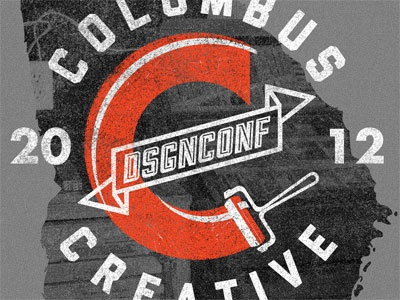 Columbus Creative t-shirt columbus creative design conference t-shirt heather grey orange