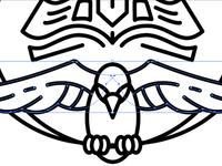 Revivalist Tutorial vector art tutorial how to line art iconic logo bird dove book christian