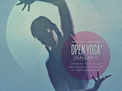 Open Yoga Gallery vintage retro grain noise yoga spiritual woman serene surreal