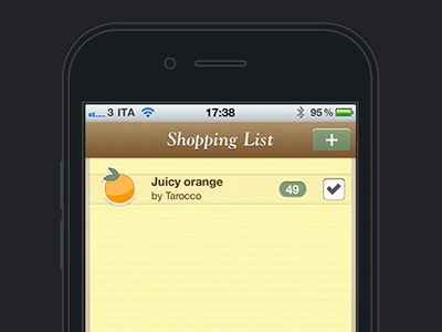 Save The Mom V1 – iPhone Shopping List iphone mobile ui mobile user interface user interface design ui design task manager list tasks