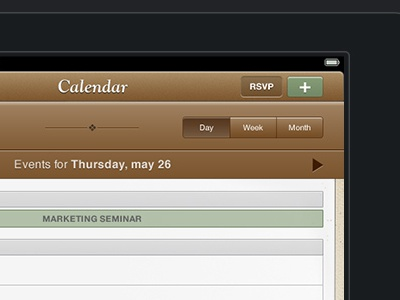 Save The Mom V1 – iPad Calendar ipad mobile ui mobile user interface user interface design ui design calendar