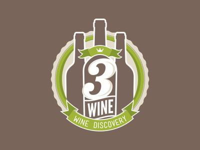 3Wine Logo – Final, iterations, & rejected versions logo design logo branding vintage vintage logo wine