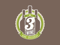 3Wine Logo – Final, iterations, & rejected versions