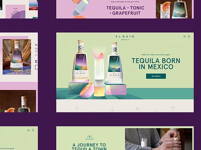 El Rayo Tequila ecommerce ui design