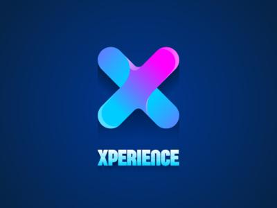 Xperience Logo x logo gradient design logo design logodesign corporate identity visual identity logo