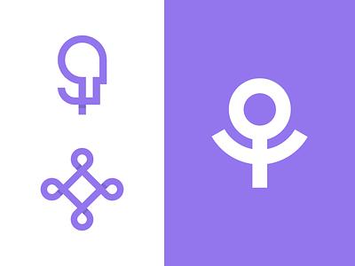 Red de Psicologas Feministas illustration logo brand branding vector minimal flat clean design
