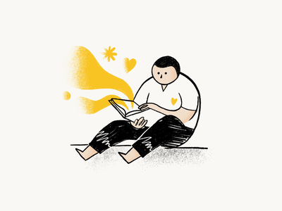 The Power of Illustration in Design ui design yellow minimal illustrations person textures shapes figma illustrator artwork procreate uidesign article ui illustration art illustration