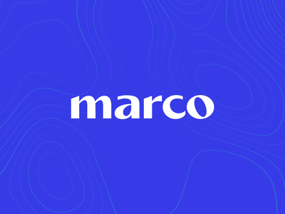 Marco - Custom type logotype typeface marco sea blue clean typography logo brand branding vector font type design