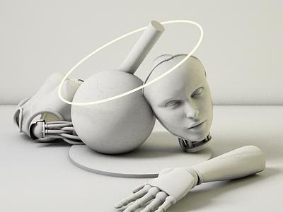 Apocalypse dreams robotic white marble models 3d model cinema 4d apocalypse robots motion 3d c4d