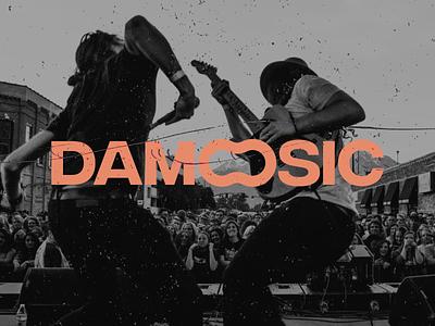 Damoosic Branding design logo vector logotype redesign music branding brand