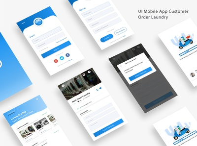 UI mobile app laundryku