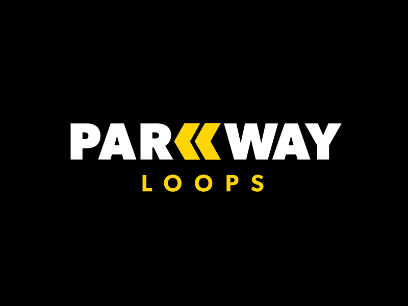 Parkway Loops Logo Design traffic parking design logo