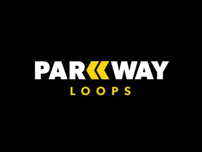 Parkway Loops Logo Design traffic parking design logo