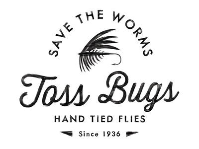 Hand Tied Flies - T-Shirt Design vintage logo fish t-shirt fly fishing