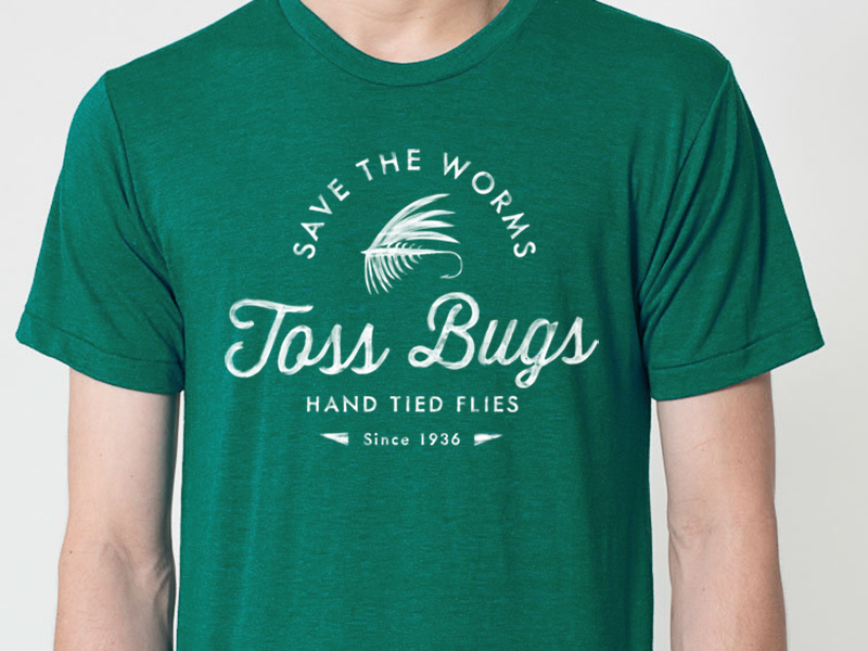 Fly Fishing Shirt - Save The Worms vintage logo fish t-shirt fly fishing