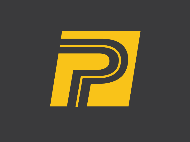P + Road Logo Mark logo mark logo bicycle