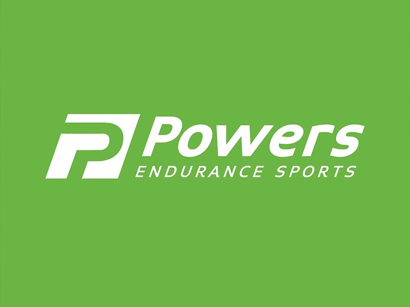 Powers Logo Design green racing bicycle