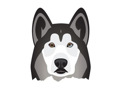 Husky Dog Illustration wolf mountains adventure alaska husky dog