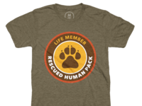 Rescued Human Pack, Life Member Tee