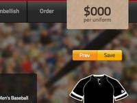 Baseball Web UI Design