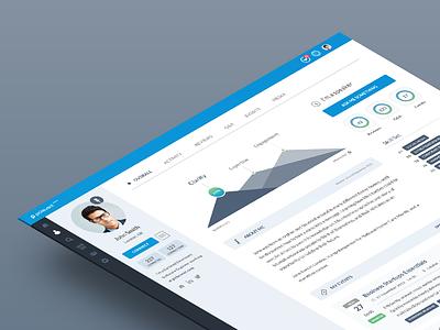 Speaker Profile sketch chart flat event platform ui ux feed dashboard profile webapp