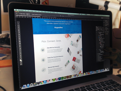 Pickevent Landing Page parallax community social network events platform startup landing page wip photoshop attendee