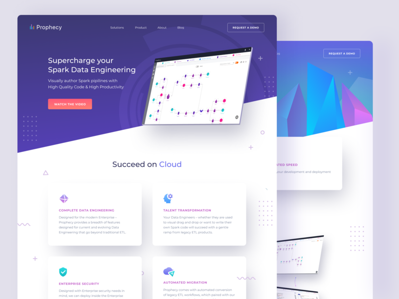 Supercharge Your Spark Data Engineering landing page bigdata saas devops infographic bold workflow insights gradient apache ai cloud computing google cloud azure aws spark webdesign website ux ui