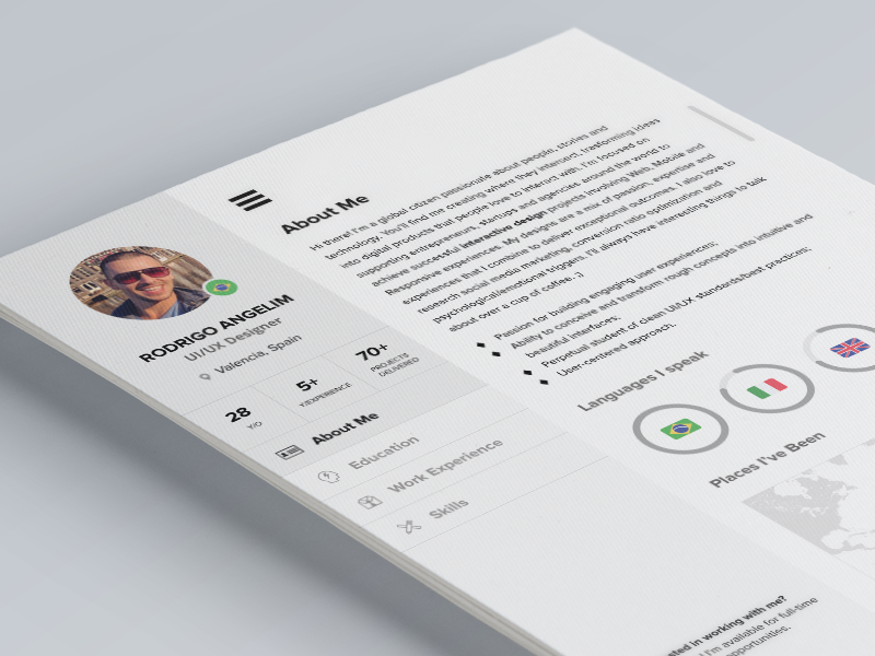 (PSD) Have you seen my new CV?  resume cv freebie free psd photoshop flat ui a4 download ux designer