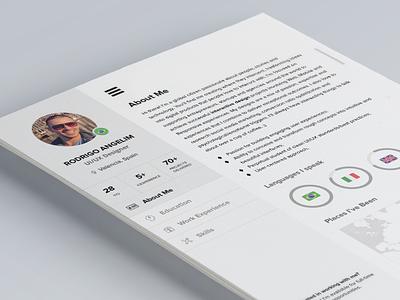 (PSD) Have you seen my new CV? resume cv freebie free psd photoshop flat ui a4 download ux designer