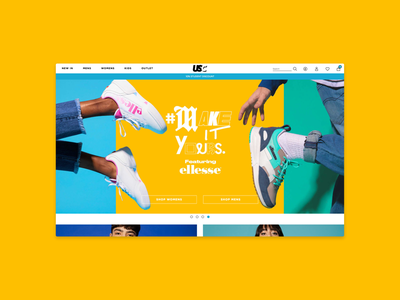 USC Website Redesign uxui ux design digital ui ux web design lifestyle fashion ecommerce