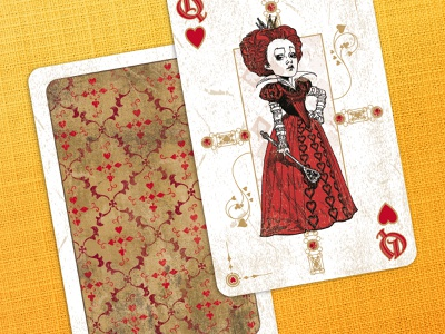 Alice in Wonderland Playing Cards alice product design product branding disney playing cards vector illustration design