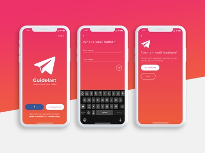 Guidelast App guidelast ui ux design app logo icon branding