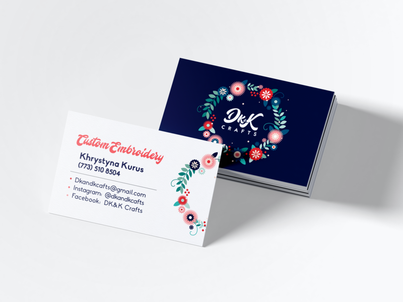 Business Card Dk&K by Olga Kozak on Dribbble