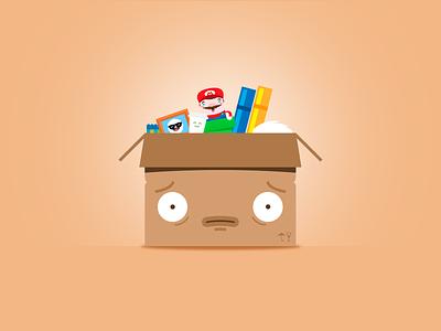 Moving... stuff face struggle boxes
