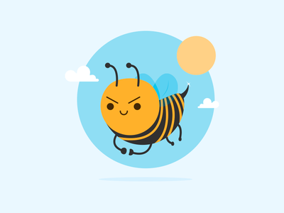 Beevil insect character evil bee
