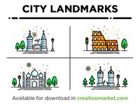 City Landmarks Set1